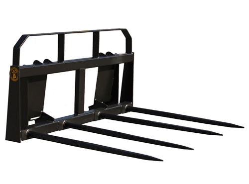 Construction Attachments Wide Frame Quad Hay Bale Spear
